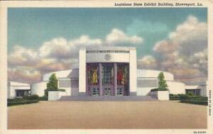 LA - LOUISIANA STATE EXHIBIT BUILDING LINEN POSTCARD, SHREVEPORT, LOUISIANA GEM
