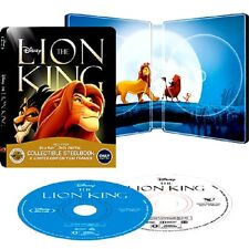 THE LION KING Steelbook New Sealed Blu-ray + DVD Disney Signature Collection