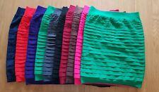 5 x body-con Stretch Mini Skirts S/M
