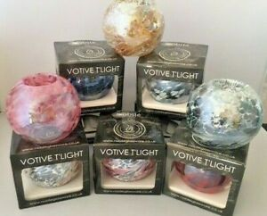 Friendship Tea Light Votive Holder Handmade Nobile Glass