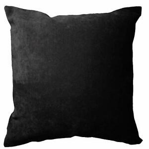 ma27a Black Velvet Style Cotton Blend Cushion Cover/Pillow Case Custom Size