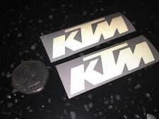 2x KTM Reflective SAFETY Motorcycle Helmet Sticker Hi Viz graphics France TT