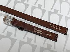 Seiko Original Genuine Lizard 11Mm Brown Watch Band