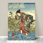"Beautiful Japanese GEISHA Art ~ CANVAS PRINT 8x10"" Woman Wading in River"