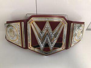 WWE Mattel Replica Universal Champion Wrestling Belt Red Sounds Talking Kids Toy