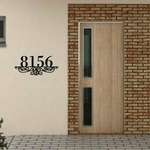 Metal House Number Sign Plaque Custom Metal Address personalized house Number