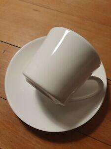 Rosenthal Jade weiß Kaffeetasse und Untertasse, 6 Stück, neu