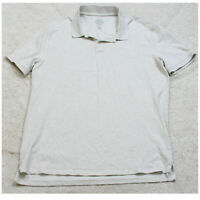 St. John's Bay Light Gray Polo Shirt Short Sleeve XL Cotton Extra Large Men's