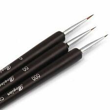 3x Nail Art Pen Dotting Drawing Painting UV Gel Liner Polish Brush Accessories