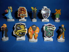 HARRY POTTER Figurines & Shields 2003 Set of 10 French Figures Porcelain FEVES