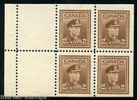 CANADA COMPLETE  BOOKLET PANE  STANLEY GIBBONS #376a  MINT NH STAMPS