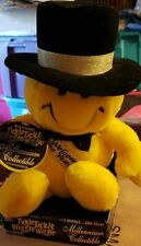 Tickle Wiggle Animated Smiley Face Plush Top Hat Sings Talks Happy New Year Mill