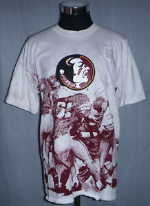 Florida State Seminoles Vintage 90's All Over Print T-Shirt Men's Size L USA