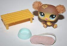 Littlest Pet Shop Lot  Fuzzy Ear BEAR 2468 Accessories Bench Food Bowl eye Mask