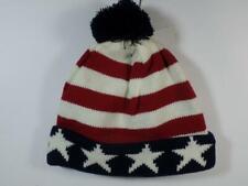 a9eec33ef44 Capelli Kids Stars   Stripes American Flag Knit Cuffed Tassel Beanie Hat