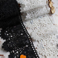 Cotton Guipure Lace Trim Fabric Skirt Hem Decoration Sewing Craft Doll 12cm Wide