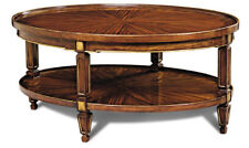Rosewood Oval Cocktail Table with Antique Gilded Accents