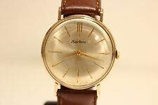 """VINTAGE EARLY CLASSIC 1MChZ USSR RUSSIA GOLD PLATED MEN'S WATCH """"KIROVSKIE"""" 16J"""