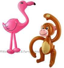 Inflatable Blow Up Flamingo & Monkey Hawaiian Tropical Beach Party Decorations
