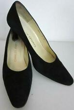 Charles Jourdan Paris SARDA Sz 7 Vintage Classic Black Suede Heel Original Box-A