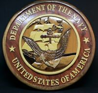 DEPARTMENT OF THE NAVY - INTARSIA PLAQUE