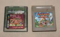 Gameboy game boy color GB Nintendo Legend of Zelda lot 2 games tasted From Japan