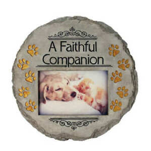 """A FAITHFUL COMPANION Memorial Garden Stepping Stone 9.5""""  by Spoontiques"""