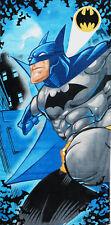 NEW COTTON TOWEL BLUE BATMAN SUPERHERO LARGE BEACH POOL BATH KIDS BOYS GIFT TOYS