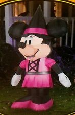 HALLOWEEN AIRBLOWN INFLATABLE MINNIE MOUSE WITCH FIGURE GEMMY DISNEY YARD PROP 5