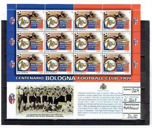 SAN MARINO 2009 CENTENARIO DEL BOLOGNA FUTBOLLL CLUB MINIFOGLIO