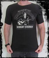 **Robert Johnson T-Shirt** Unisex Retro Rock Vest Tank Top **Sizes S M L XL**