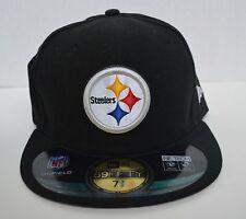 7a4f62e7e16f6 New Era 59 Fifty Pittsburgh Steelers Oficial en Campo Sombrero Gorra  Ajustada Talla 6 7 8