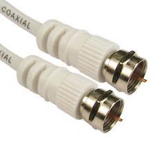 5m Conversor TV Satélite F Conector Sky de medios vírgenes/Cable De Extensión Plomo Blanco
