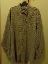 PIERRE CARDIN MENS CASUAL LONG SLEEVED CHECKED SHIRT SIZE XL
