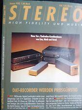 Stereo 1/92 Onkyo dt 901, Pioneer d 500, Sony DTC 670, Denon DTU 2000, Grundig st300