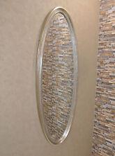 Ovalspiegel Wandspiegel OVAL Spiegel Silber 160 x 60 cm elegant stilvoll neu