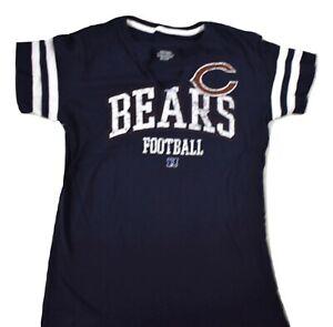 NFL Team Apparel Womens Chicago Bears Football Shirt New S, M