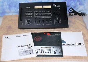 Nakamichi 610 Stereo Control Preamplifier + Manuals *EUC*