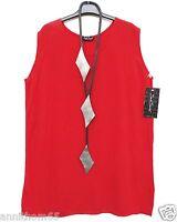 NEU SARAH SANTOS seidiges Top Shirt Tunika Tunic L 44 Lagenlook rot *