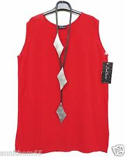 NEU SARAH SANTOS Top Shirt Tunika Tunic 30% Seide L 46 Lagenlook rot **