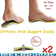 Orthotic Arch Support Shoe Insoles Pads Pain Relief Hard Soft Women Men Comfy #C
