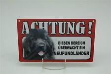 NEUFUNDLÄNDER  - Tierwarnschild - VORSICHT Warnschild 20x12 cm 32