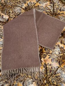 POLO RALPH LAUREN MEN'S TWO SIDED HEATHER BROWN AND CAMEL SCARF  NWOT