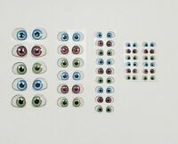 3D Eyes assorted colors. Adhesive. Porcelain, clay Foam COD101 olhos resinados