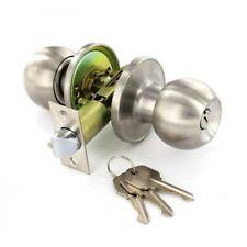 Poignée de porte boule d'entrée de serrure type de double boucle avec clés