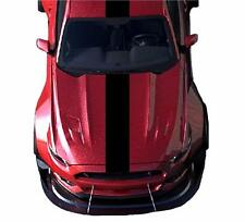 """NEW Fits Ford MUSTANG 12"""" Single CARBON FIBER Vinyl RACING STRIPES Decals Chevy"""