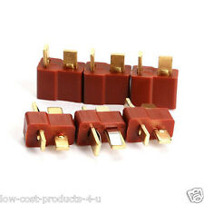 10 Pairs T Plug Male & Female Connectors Deans Style RC LIPO Battery Hobby