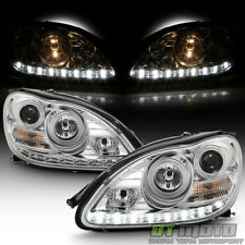 2000-2006 Mercedes Benz W220 S500 S600 LED DRL Projector Headlights Headlamps