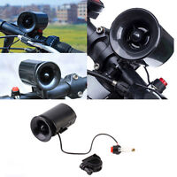 Black Ultra-loud Speaker Electronic Bicycle 6Sounds Alarm Bell Bike Siren Horn