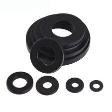 M2-M20 Black Nylon Plastic Flat Washers Gasket Pad For Fit Metric Bolts/Screws